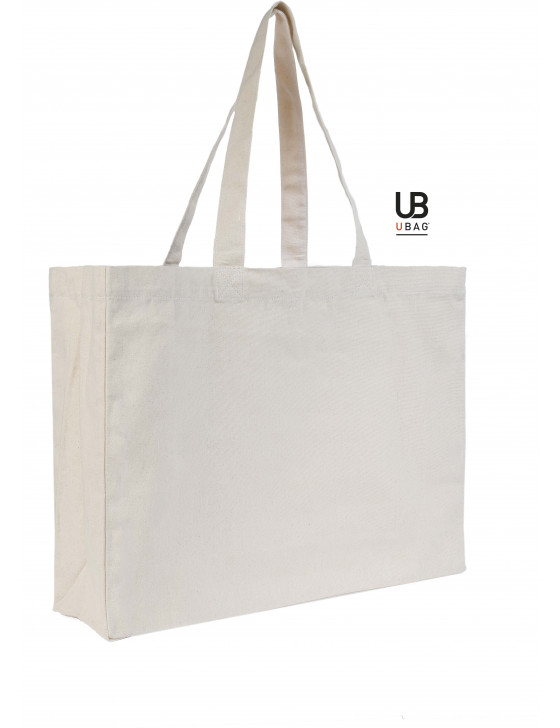 84ff8567d9 Extra size cotton shopping bag full gussets